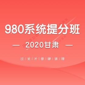 2020甘肃省考系统提分班04期