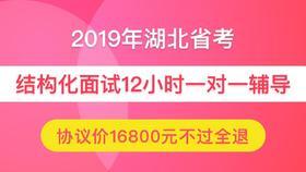 【协议班不过全退】2019年湖北省公务员面试12小时一对一(仅限状元)