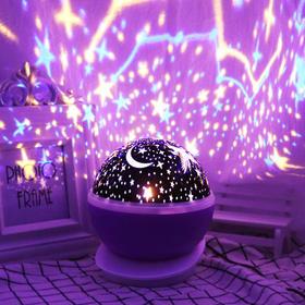 (精品)BHT50893新款星空自动旋转LED投影小夜灯TZF