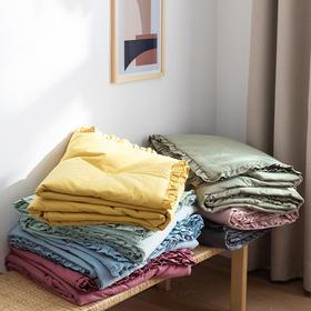 奇居良品 春夏床上用品水洗棉褶皱花边夏被单人被双人被夏凉被