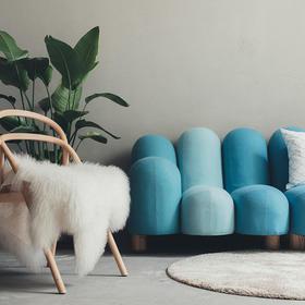 【尖叫设计】北欧简约五指沙发单人位