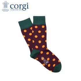 英国CORGI·春夏新款男士时尚波点轻棉中筒袜进口休闲运动袜子