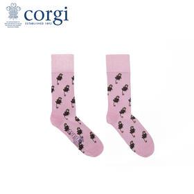 英国CORGI·夏季新款男女情侣中筒袜时尚休闲运动轻薄透气花袜