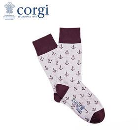 英国CORGI·夏季新款男士轻棉薄款中筒袜时尚休闲运动袜子