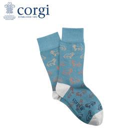 英国CORGI·夏季新款男士休闲运动袜子轻棉薄款时尚街头潮中筒袜