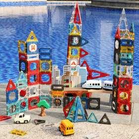 【为思礼】Giromag彩窗磁力片积木透光拼装玩具——酷到无以言表【2-12岁】