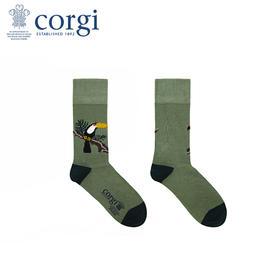 英国CORGI·男女情侣袜夏季新款轻薄棉长袜时尚休闲印花中筒袜
