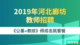 2019年河北廊坊市教师招聘《公基+教综》师成名就套餐