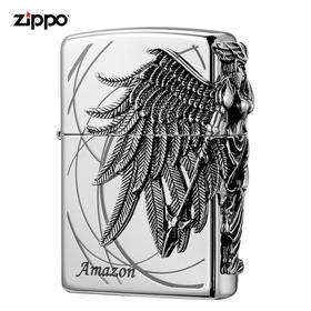 Zippo打火机 正版美国原装进口 亚马逊女战士-银 ZBT-1-36b
