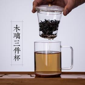 耐热玻璃茶杯泡茶马克杯带盖带过滤内胆双层办公杯男女 茶水分离