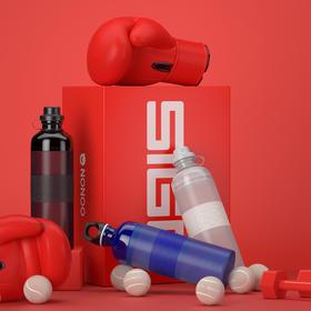 NONOO&SIGG运动水杯便携塑料随手杯户外水壶600ml