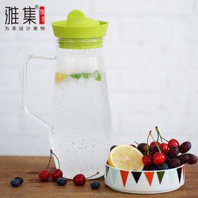 雅集冷水壶玻璃水杯大容量带盖凉水壶果汁壶耐热玻璃茶壶水具套装
