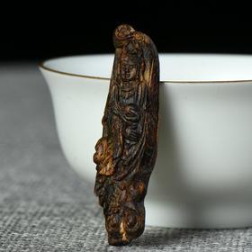 芽庄白奇楠沉水沉香雕件 1.82g    180116-5C