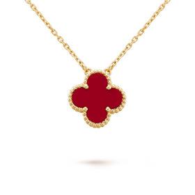 六鑫珠宝 幸运四叶草项链 925银镀金 经典,轻奢,时尚
