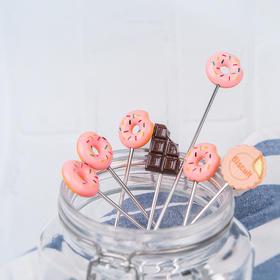 日本高桑金属elfin 少女心的甜甜圈勺 夏天甜点冰激凌蛋糕咖啡巧克力饼干小熊爱心勺ins风