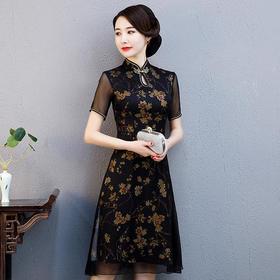 改良丝绸面料,修身旗袍ZA-风信子
