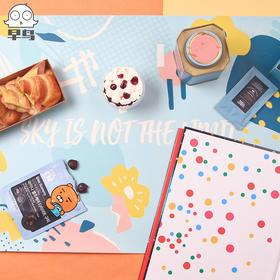 趁早早鸟薄荷冰淇淋桌垫办公室鼠标垫餐垫隔热垫小清新可爱超大防水笔记本垫子