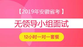 2019年安徽省公務員面試12小時一對一【無領導小組討論】