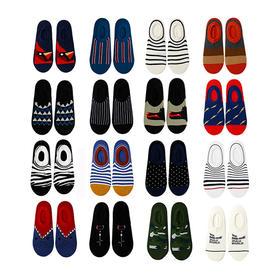 夏季街头浅口棉袜 创意设计 精梳棉舒适男船袜
