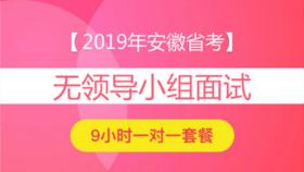 2019年安徽省公務員面試9小時一對一【無領導小組討論】