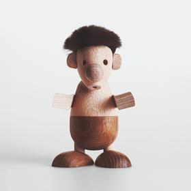 丹麦Hans Bolling《Strit》纯手工木质小矮人摆件