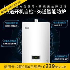 林内(Rinnai)燃气热水器天然气 13升零温差感恒温 静音升级版04系列 13QH04 强排式 JSQ26-H04
