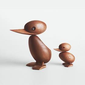 丹麦Hans Bolling《Duck&Ducking》纯手工木质小鸭子摆件