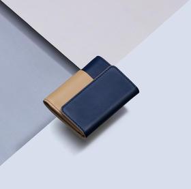 小时光便携牛皮钱包 | 牛皮制作,高颜值小巧精致,容量大,私人定制