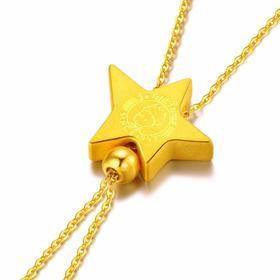 【顺丰包邮】小王子星动套装 金吊坠项链 一饰多戴