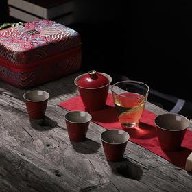 旅行茶具套装 身未动 心已远 蓝色茶具 方便携带整套茶具