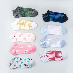 女袜浅口船袜薄款精梳棉船袜(6双装)