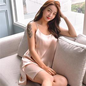 【裸感体验、3秒变性感女神】YOOE夏季真丝性感睡衣、吊带裙