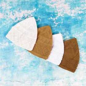疙瘩帽——纯手工钩织礼拜帽,浅网帽子,老少皆宜。