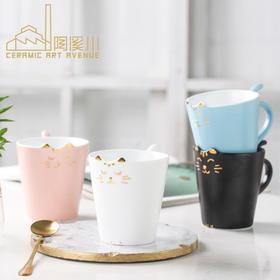 陶溪川 手工可爱猫咪陶瓷马克杯