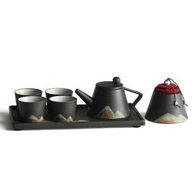 山水陶瓷 家用送礼 整套茶具 茶壶盖碗茶杯礼盒 功夫茶具套装