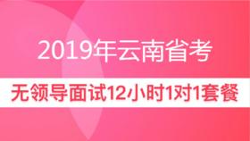 2019年云南省公務員面試12小時一對一【無領導小組討論】