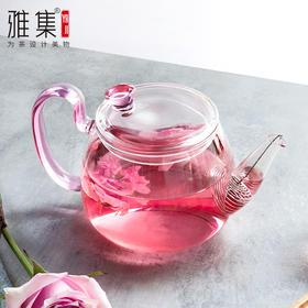 雅集花神壶耐热玻璃泡茶壶花茶壶壶泡茶器家用办公茶具茶杯套装