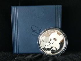 2019年熊猫150克精制银币