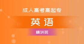 成考高升专英语(精讲班)