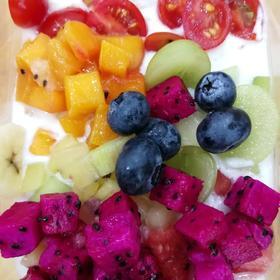 """云语""""十月西双""""鲜果盒子 酸奶水果盒子 奶油水果盒子 380ml"""