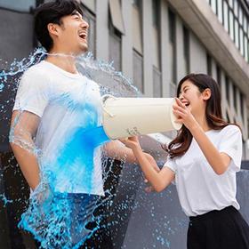 【纯棉抗污黑科技白T恤  透气不变形】纯棉疏水材质 防污白T恤