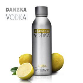 【包邮】Danzka铝罐柑橘味40度伏特加1000ml