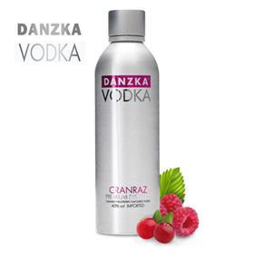 Danzka铝罐蔓越莓覆盆子味40度伏特加1000ml【包邮】