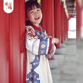 【下单3天左右发货】6月18日左右发货 嗯哈童装 夏装新品 春分花蟹自在红妆旗袍