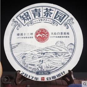 大沁福鼎白茶2017十三坪知青白毫银针茶饼300g福建茶叶白茶