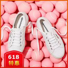 意大利百年品牌!SUPERGA 舒适休闲小白鞋!内增高、宽鞋带、经典款 3 款可选!时尚街拍帆布鞋,可搭亲子款