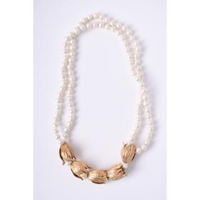 monshiro 郁金香造型短款珍珠项链