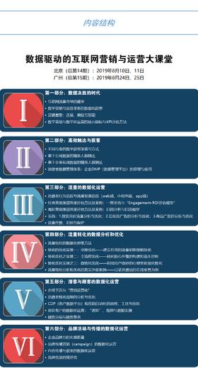【2019年8月北京】宋星大课堂:数据化营销与运营