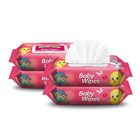 婴美洁 婴儿湿巾 80抽 10包
