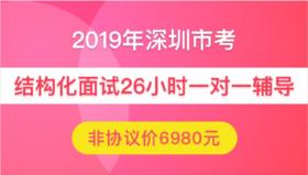 【非协议】2019年深圳市公务员面试26小时一对一